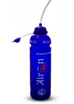 Kiron Borraccia 1000ml borraccia blu con logo Kiron, in PE (polietilene)